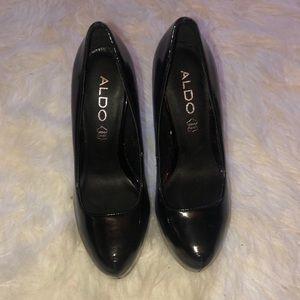 Aldo Black Oil Slick Iridescent Heels